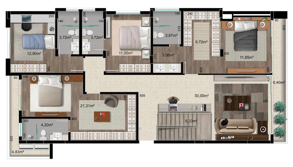 Apartamentos na planta: personalização de layout torna imóvel exclusivo para clientes